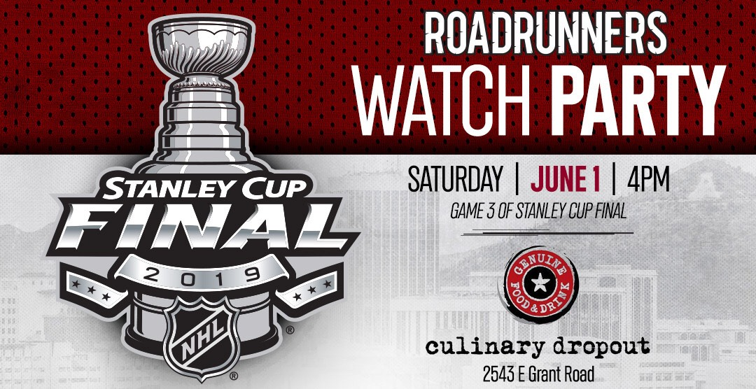 fc73a01fba2ad6 Roadrunners To Hold Stanley Cup Watch Party at Culinary Dropout. Join us  for Game 3 ...