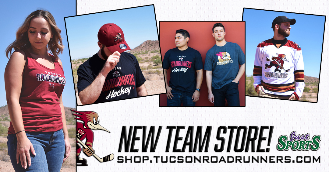 0201d92ff7e TUCSON, AZ – The Tucson Roadrunners, proud American Hockey League affiliate  of the Arizona Coyotes, announced today an agreement with Just Sports to be  the ...